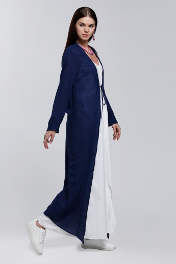 Long Sleeves Shrug with Tie Up
