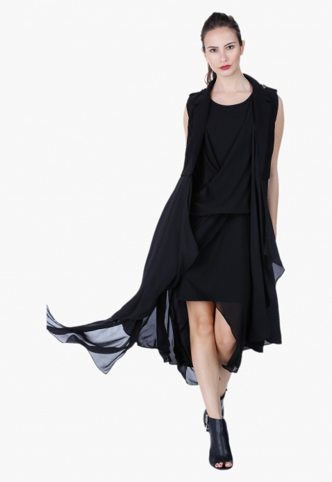 Layered Wrap Dress