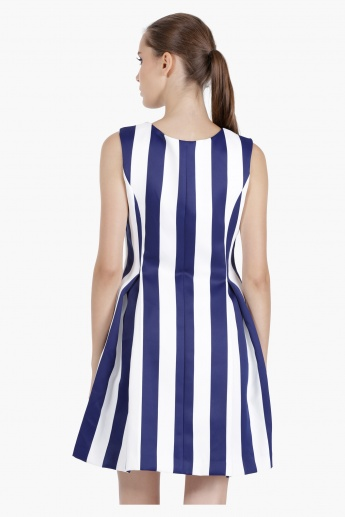 Tunic Dress with Stripes in Regular Fit