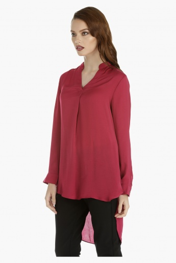 High Low Top with Long Sleeves