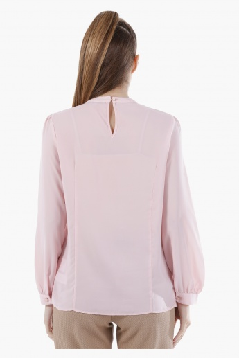 Basic Long-Sleeved Shirt in Regular Fit