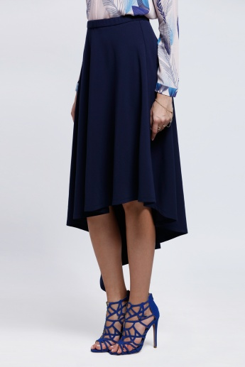 High Low Hem Skirt with Elasticised Waistband
