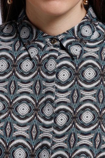 Printed Long Sleeves Shirt with Complete Placket