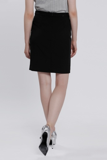 Midi Skirt with Zip Closure