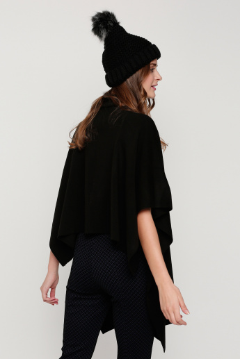 High Neck Cape Top