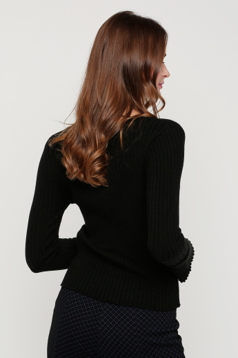 Round Neck Top with Full Sleeves