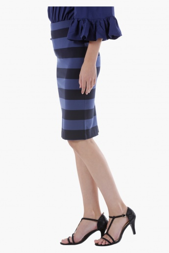 Pencil Skirt with Stripes