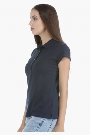 Polo T-shirt with Pique Collar in Regular Fit