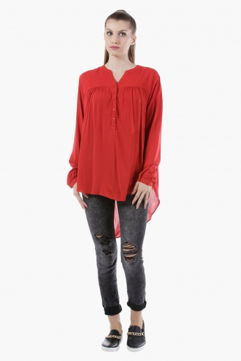 Basic Top with Long Sleeves in Regular Fit