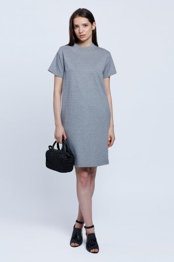 Crew Neck Dress with Short Sleeves