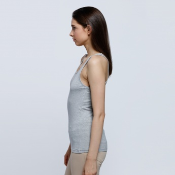 Melange Sleeveless Vest