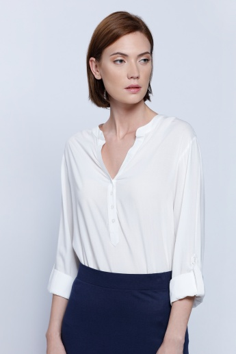 Roll Up Sleeves Top