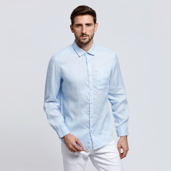 Long Sleeves Shirt with Front Patch Pocket