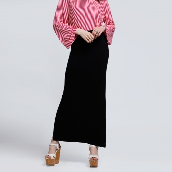 A-Line Maxi Skirt with Side Slit