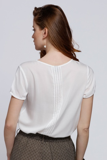 Short Sleeves Round Neck Top