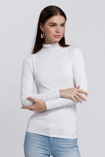 Turtle Neck T-Shirt with Long Sleeves