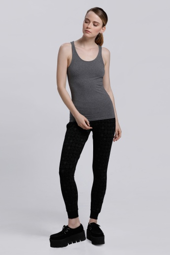 Sleeveless Vest with Round Neck and Racerback