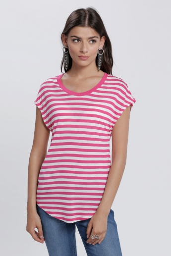 Striped Top with Round Neck