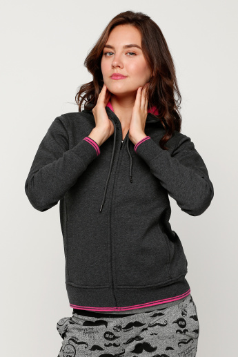 Bonded Knit Jacket With Tipping Detail