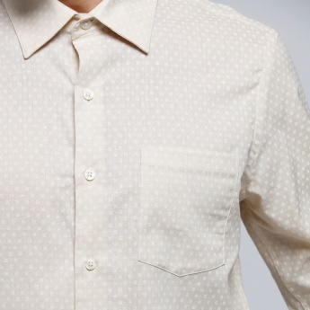 Arrow Printed Shirt with Long Sleeves and Patch Pocket