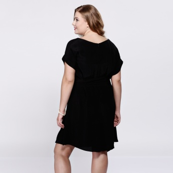 Midi Dress with Short Sleeves