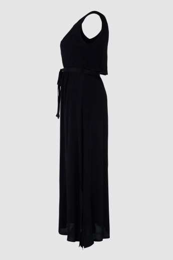Round Neck Maxi Dress in Regular Fit