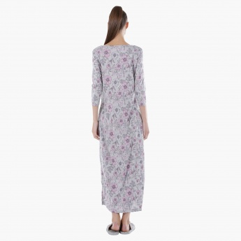 Printed Long Nightdress