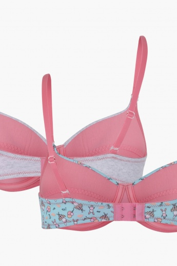 Padded Bra with Adjustable Straps - Set of 2