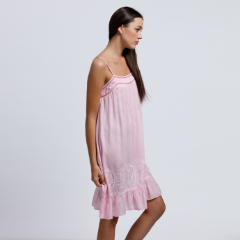 Midi Dress with Spaghetti Straps