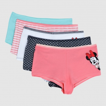 Micky Mouse Printed Boxer with Bow Applique - Set of 5