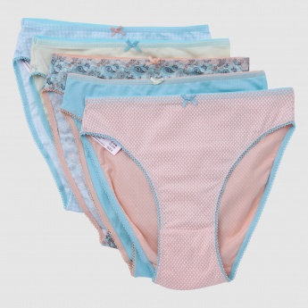 Bikini Briefs with Elasticised Waistband - Set of 5