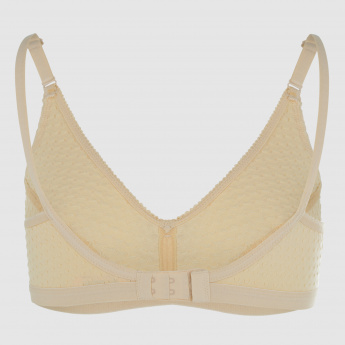 Textured Support Bra with Adjustable Straps