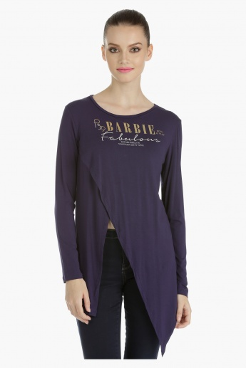 Barbie Asymmetrical Top with Long Sleeves