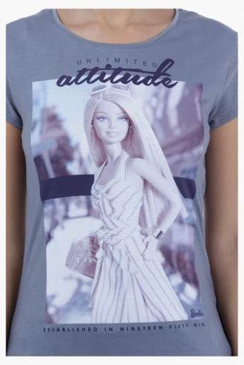 Barbie Printed T-Shirt with Short Sleeves