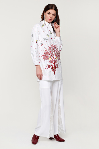 Elle Embroidered Shirt with Long Sleeves