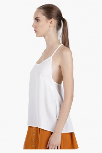 Cami Top with Back Lace Detail in Regular Fit