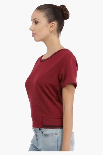 Ribbed Short Sleeves Top