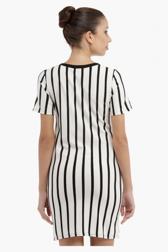 Striped Longline Top with Yoke Tie Ups