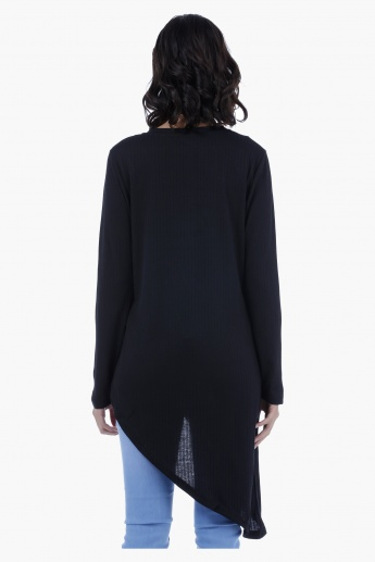 Asymmetrical Long Sleeves Tunic Top