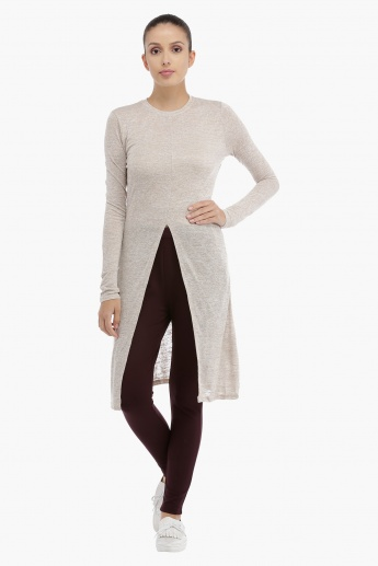 Long Sleeves Top with Front Slit