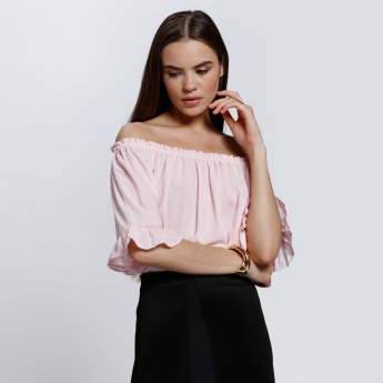 2Xtremz Off Shoulder Top with Frilled Detail