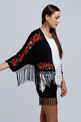 2Xtremz Embroidered Short Sleeves Shrug