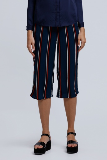 2Xtremz Stripes Culottes with Pockets on the Front