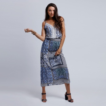 2Xtremz Printed Maxi dress with Spaghetti Straps