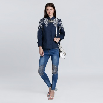 Embroidered Long Sleeves Shirt with Complete Placket