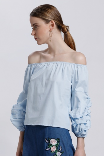 Off Shoulder Top with 3/4 Sleeves