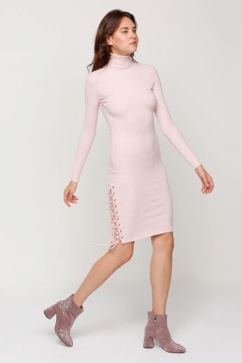 Midi Dress with Long Sleeves