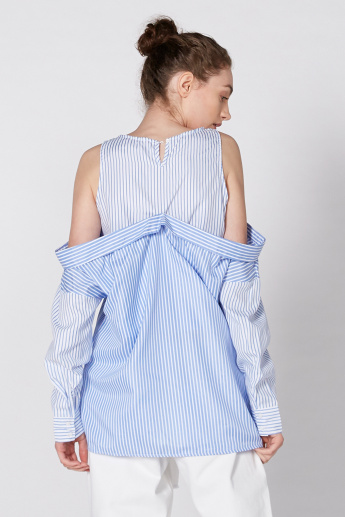 Striped Top with Keyhole Closure
