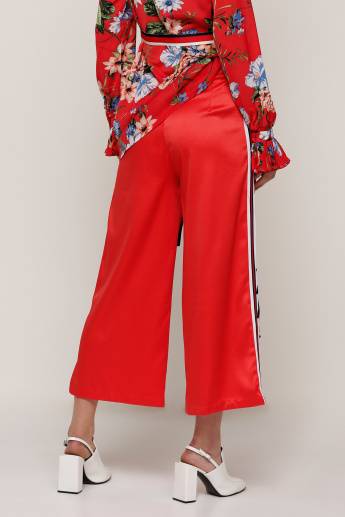 Embroidered Culottes with Applique and Tape Detail