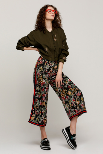 Printed Culottes with Tape and Pocket Detail